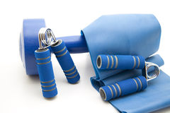 Dumbbells With Ribbon Stock Photography