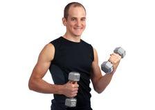 dumbell锻炼 库存照片
