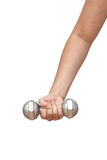 Dumbell-Übung gesund Stockfotos