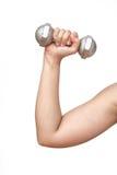 Dumbell-Übung gesund Lizenzfreies Stockfoto