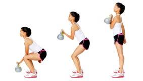 dumbell άσκηση kettlebell Στοκ Εικόνες