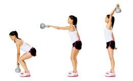 dumbell άσκηση kettlebell Στοκ φωτογραφίες με δικαίωμα ελεύθερης χρήσης