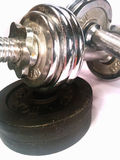 Dumbell with discs Stock Photo