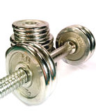Dumbell with discs Royalty Free Stock Image