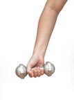 Dumbell exercise healthy Stock Image