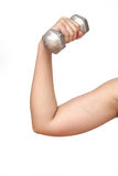 Dumbell exercise healthy Royalty Free Stock Photo