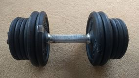 Dumbell on the floor Royalty Free Stock Photos