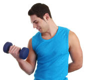 Dumbell guy Royalty Free Stock Photo