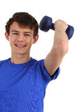 Dumbell guy Stock Photos