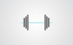 Dumbell icon. dumbell sign shadow flat Royalty Free Stock Photos
