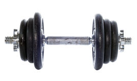 Dumbell isolou-se no branco Foto de Stock Royalty Free