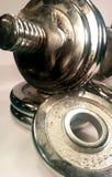 Dumbell met schijven Stock Afbeelding