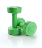 Dumbell over white background Stock Photo