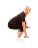Dumbell squat Stock Image