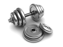 Dumbell uppsättning stock illustrationer
