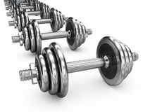 Dumbell weights Stock Image