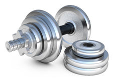 Dumbell weights Royalty Free Stock Image