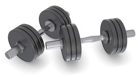 Dumbell weights Stock Photography