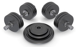 Dumbell weights Royalty Free Stock Photos