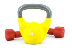 Dumbell and weights Stock Photo