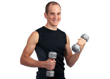 Dumbell workout Stock Photos