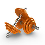 dumbells 3d illustration stock