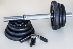 Dumbells do peso Fotos de Stock Royalty Free