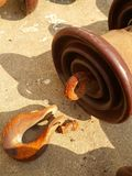 Dumbells enduits de veiw de chrome de cadre supérieur en métal Photo libre de droits