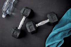 Dumbells. A studio photo of gym dumbells Royalty Free Stock Image
