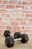 Dumbells. A studio photo of gym dumbells Royalty Free Stock Images