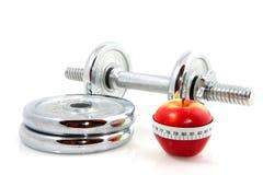 dumbels яблока Стоковая Фотография RF
