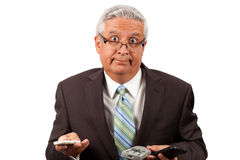 Dumbfounded business man Stock Image