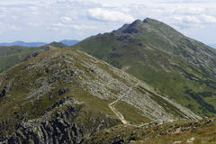 Dumbier, самая высокая вершина гор низкого Tatras Словакии Стоковое фото RF