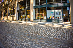 Dumbo Brooklyn Cobblestone Streeet Royalty Free Stock Photo