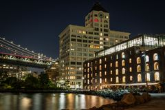 Dumbo Brooklyn waterfront, New York. Dumbo Brooklyn waterfront in New York stock image