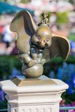 Dumbo at Disneyland. Anaheim, CA: July 8, 2014: Dumbo statue at Disneyland in the daytime in Anaheim, California. Disneyland was opened in 1955 stock photography