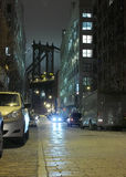DUMBO New York City Nacht lizenzfreies stockfoto