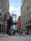 DUMBO y puente de Brooklyn fotografía de archivo