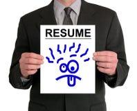 dumbom för resume för affärsmanframsidapresentation Royaltyfri Fotografi