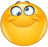 Dumbommen synar emoticonen Arkivfoto
