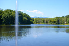 Dumbrava Lake från Sibiu, Rumänien Arkivfoton