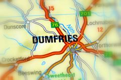 Dumfries, Σκωτία, Ηνωμένο Βασίλειο στοκ φωτογραφία με δικαίωμα ελεύθερης χρήσης