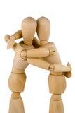 dumies обнимают деревянное Стоковое фото RF