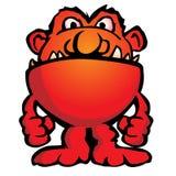 Dumme ausländische Monster-Geschöpf-Karikatur-Vektor-Illustration Lizenzfreies Stockbild