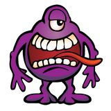 Dumme Monster-Geschöpf-Karikatur-Vektor-Illustration Lizenzfreie Stockbilder