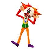 Dummer Clown Illustration Lizenzfreies Stockbild
