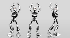 Dummer Roboter verärgert Stockfoto