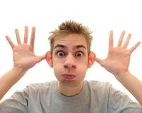 Dummes Fallhammer-Gesicht Lizenzfreie Stockfotos
