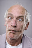 Dummes lustiges Gesicht Lizenzfreies Stockbild