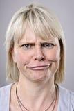 Dummes lustiges Gesicht Stockbild